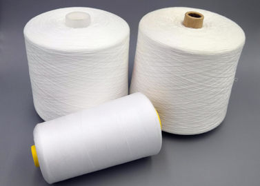 Raw White 602 603 Spun Coat Polyester Staple Yarn For Knitting Sewing Weaving